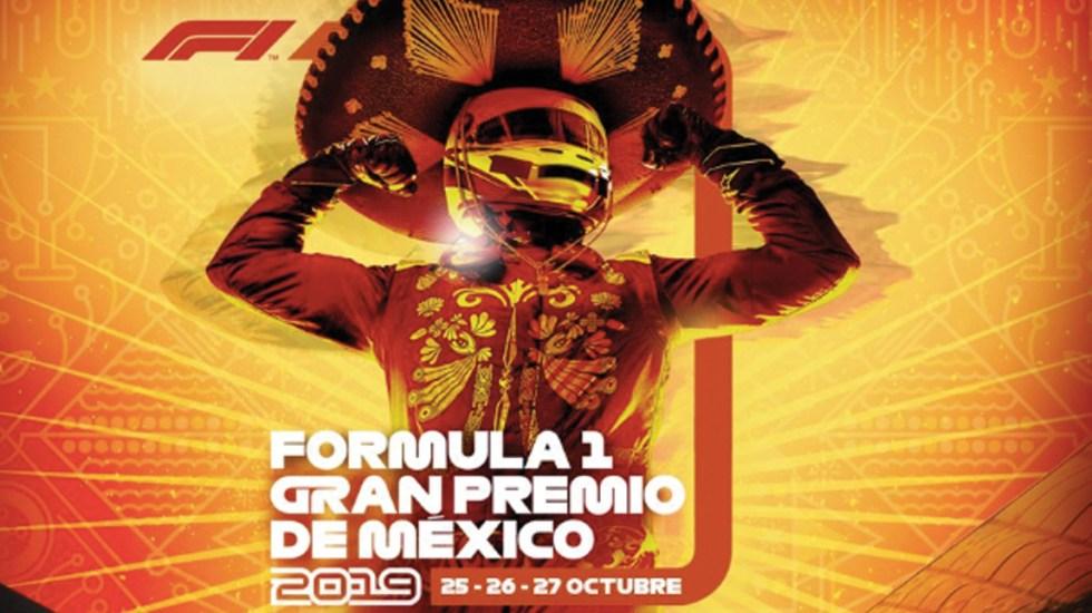 Revelan el póster oficial del Gran Premio de México 2019 - Foto de Twitter