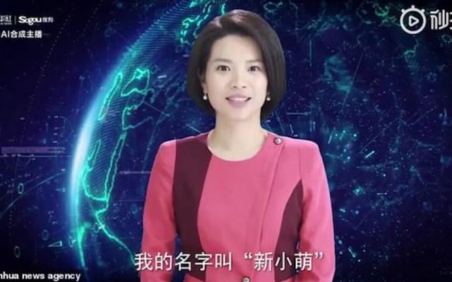 #Video Presentadora de noticias de Xinhua creada con IA - Foto de Xinhua News Agency