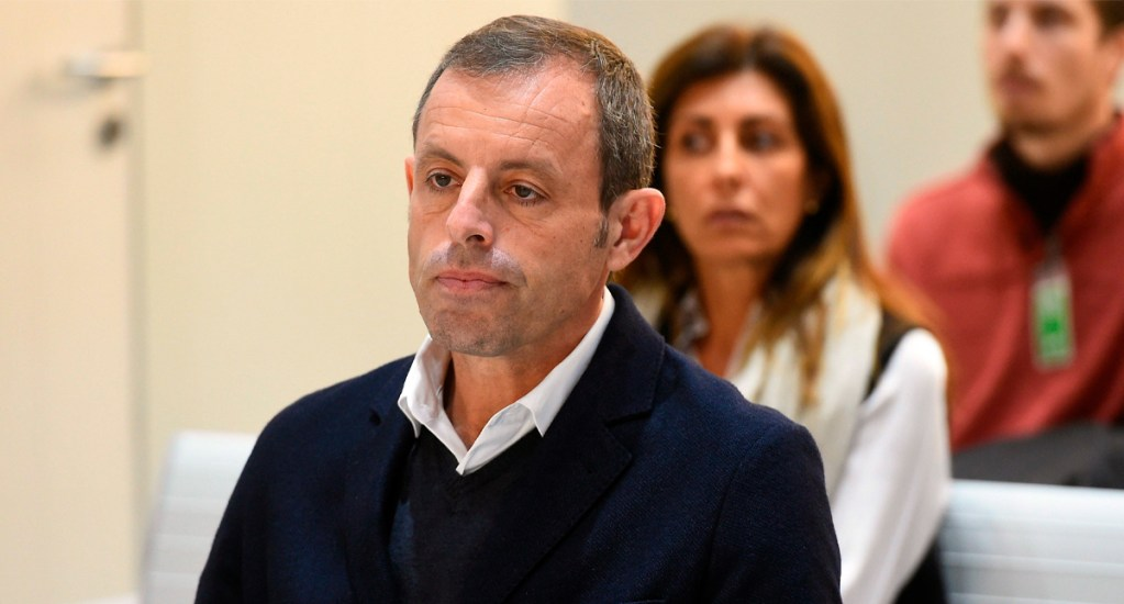 Dan libertad provisional al expresidente del Barcelona, SandroRosell - Foto de AFP