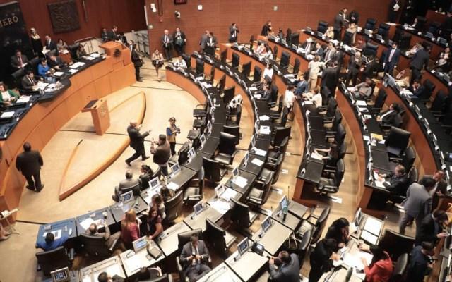 Preparan en Senado dictamen para enjuiciar al presidente por corrupción - Sesión del Senado de la República. Foto de @CanalCongreso