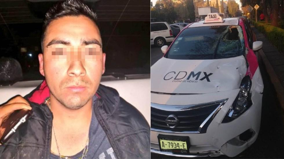 Cae taxista que atropelló a usuario de patín eléctrico en la CDMX - Taxista detenido por homicidio de usuario de patín eléctrico. Foto de @alertasurbanas