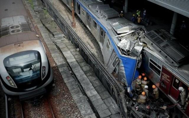 Choque de trenes deja un muerto y ocho heridos en Rio de Janeiro - Foto de @Mundo_ECpe