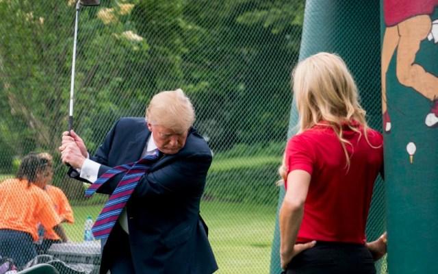 Trump instaló simulador de golf de 50 mil dólares en la Casa Blanca - Donald Trump simulador de golf casa blanca