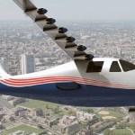NASA alista primer vuelo con avión de motor eléctrico - Avión X-57 Maxwell con motor eléctrico. Foto de NASA