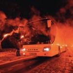 """#Video Aficionados reciben al Zenit con un """"camino de fuego"""" - Foto de @zenit_spb"""