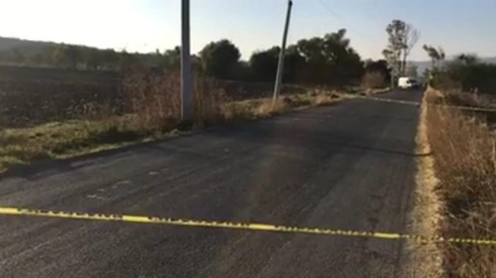 Asesinan a 20 personas durante el fin de semana en Guanajuato - Zona acordonada por asesinato en Salvatierra. Foto de @LBNoticias