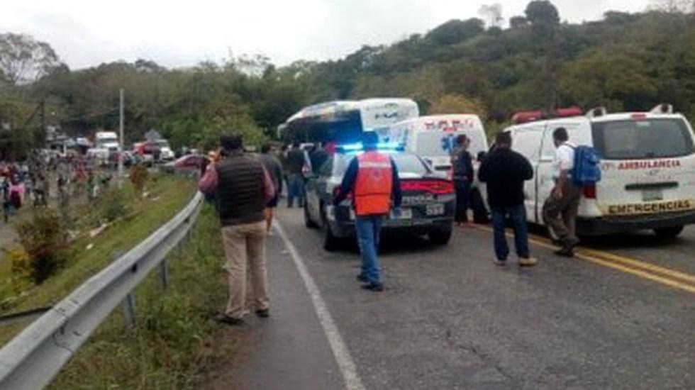Mueren ocho personas en choque de autobús en Veracruz - choque autobús galeana veracruz muertos