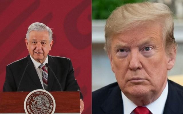 """AMLO responde a Trump: """"No quiero darle mucha relevancia al tema"""" - AMLO y Donald Trump. Foto de Notimex y AFP / LDD"""