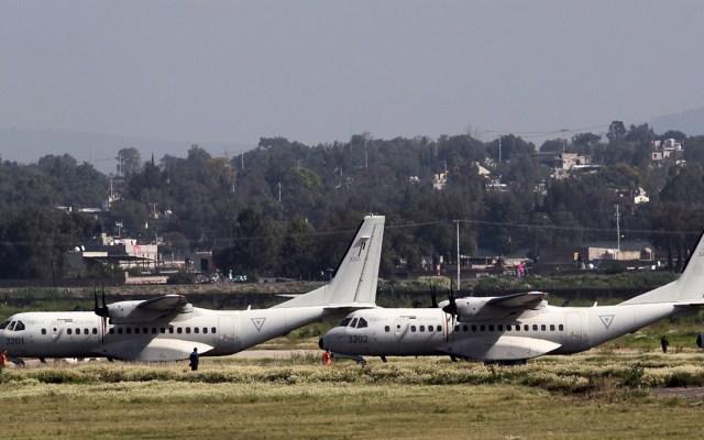 """""""Ya se tomó la decisión. Sedena operará Santa Lucía"""": AMLO - Aeronaves en Base Aérea de Santa Lucía. Foto de Notimex"""