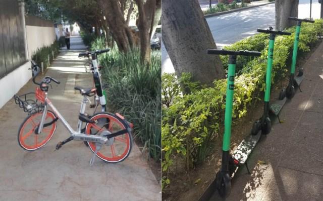 Remiten al corralón 150 bicicletas y scooters en la Miguel Hidalgo - Bicicletas y scooters en Polanco. Foto de @maylat
