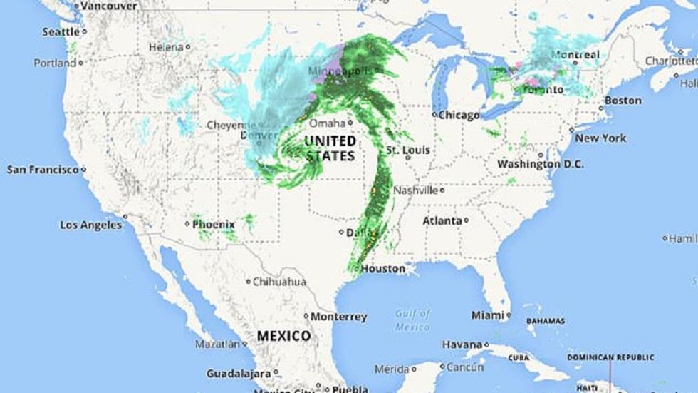 Bomba ciclónica en EE.UU. Foto de The Weather Channel