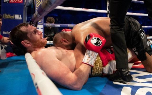 #Video Boxeador muerde a su rival en el Reino Unido - boxeador muerde a rival