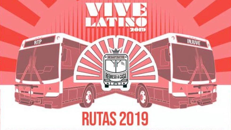 Policías acompañarán camiones RTP especiales para el Vive Latino - Foto de CDMX