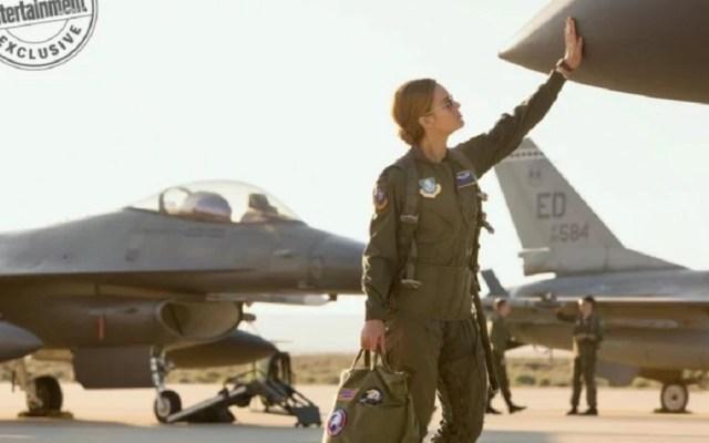 Lanzan nuevas imágenes de Capitana Marvel - Brie Larson se entrenó con verdaderos pilotos de la Fuerza Aérea de EE.UU. para el papel. Foto de Marvel / EW