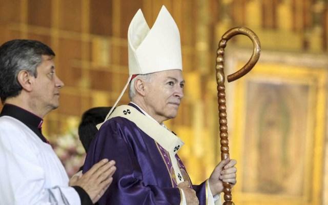 Arquidiócesis presenta equipo para atender a víctimas de abuso - Carlos Aguiar Retes, arzobispo primado de México, anunció la creación de un grupo para atender las denuncias de abuso sexual por parte de sacerdores. Foto de Desde la fe