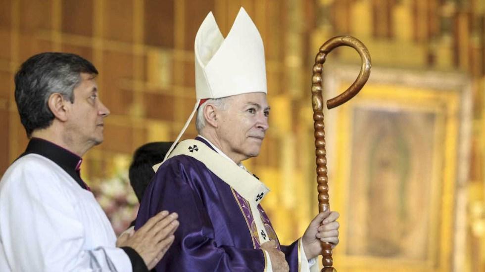 Carlos Aguiar se pronuncia a favor del Estado laico - Carlos Aguiar Retes, arzobispo primado de México, anunció la creación de un grupo para atender las denuncias de abuso sexual por parte de sacerdores. Foto de Desde la fe
