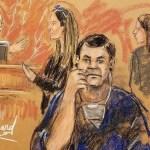 Abogados piden repetir juicio de 'el Chapo' - Chapo durante juicio. Foto de Shepard Shirley