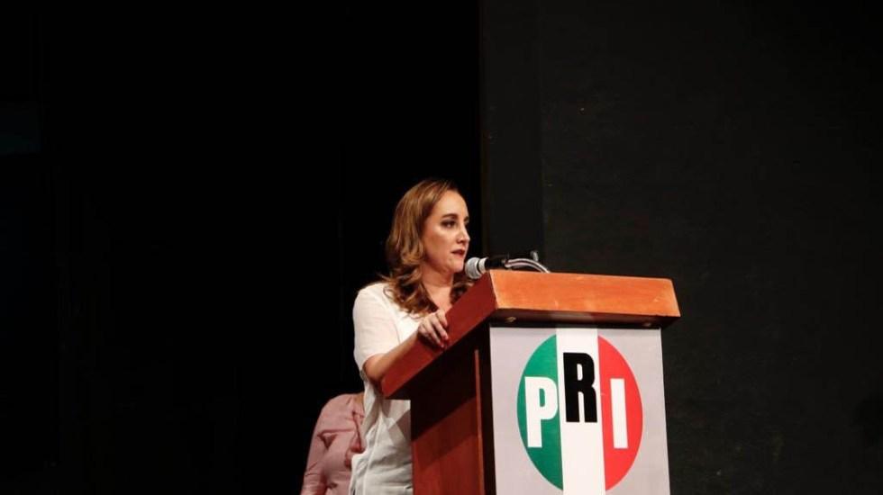 Nuevos dirigentes del PRI serán electos por voto directo - Claudia Ruiz Massieu. Foto de @ruizmassieu