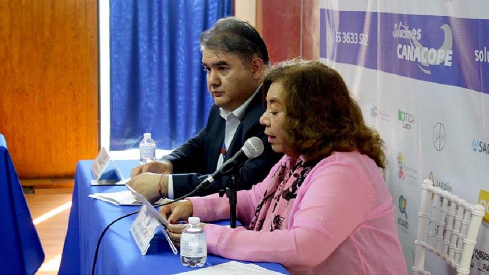 Conferencia de prensa de la Canacope. Foto de @CanacopeCDMX