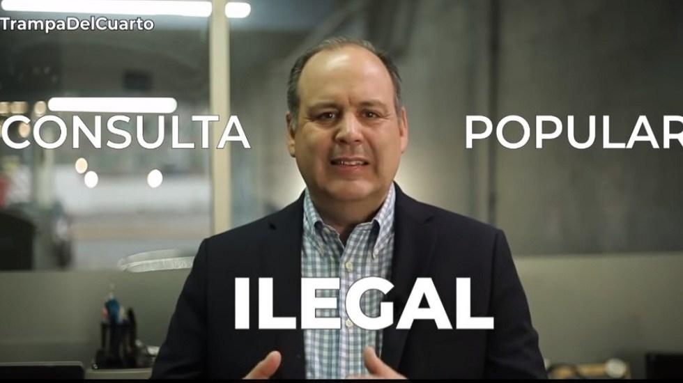#Video Coparmex advierte 'trampa' en cuarto año de Gobierno de AMLO - Gustavo de Hoyos, titular de la Coparmex. Captura de pantalla