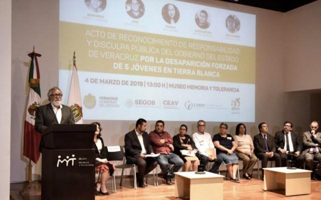 Ofrecen disculpas a familiares de jóvenes desaparecidos en Tierra Blanca, Veracruz - Foto de Alejandro Encinas