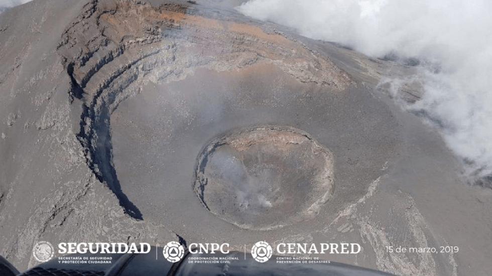 Confirman destrucción de domo 82 del Popocatépetl - Foto de Twitter