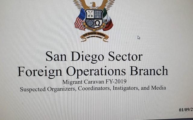 EE.UU. investigó a periodistas y abogados vinculados a caravana migrante - Foto de NBC 7