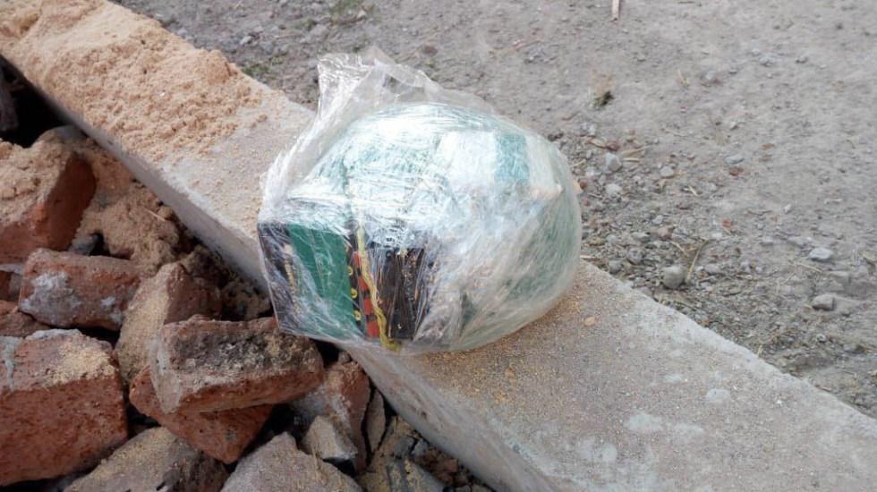 Fuerzas estatales encuentran explosivo con detonador a distancia en Santa Rosa de Lima - Foto: Especial