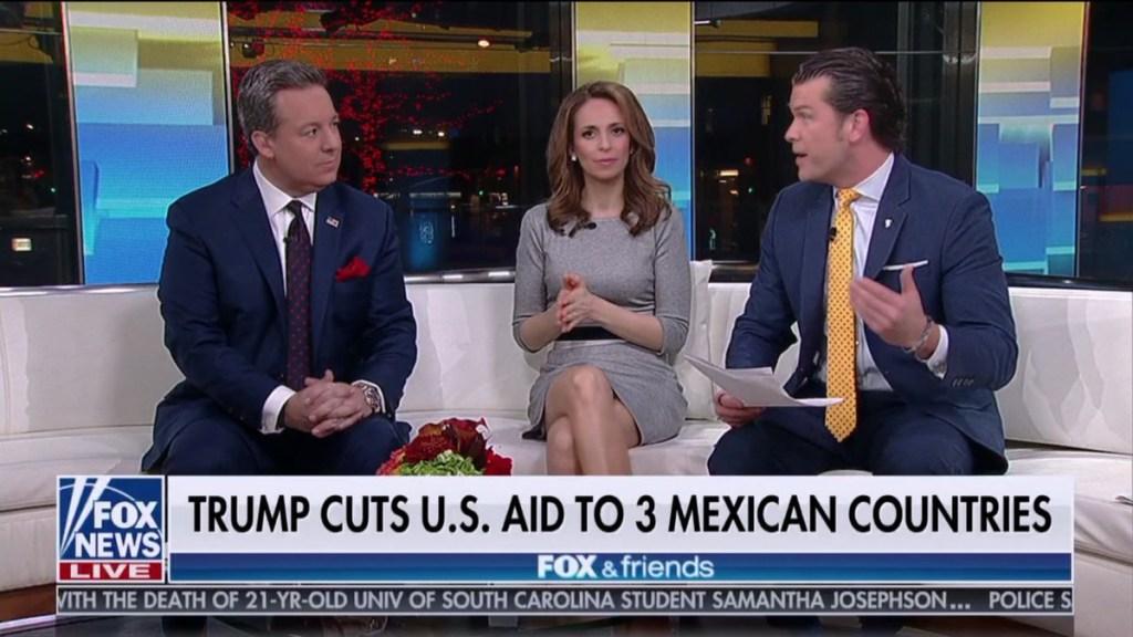 """Fox News llama a El Salvador, Honduras y Guatemala """"tres países mexicanos"""" - fox and friends países"""
