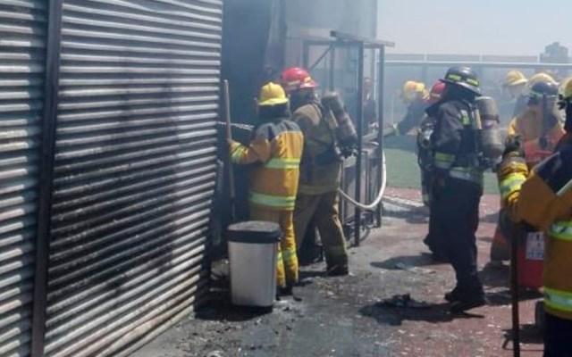 Controlan incendio en la Torre Titanium de Puebla - Foto de @SSP_Puebla
