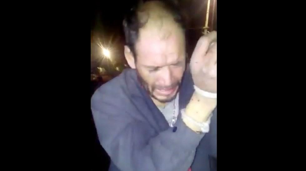 #Video Vecinos golpean y someten a presunto ladrón en Álvaro Obregón - Captura de pantalla