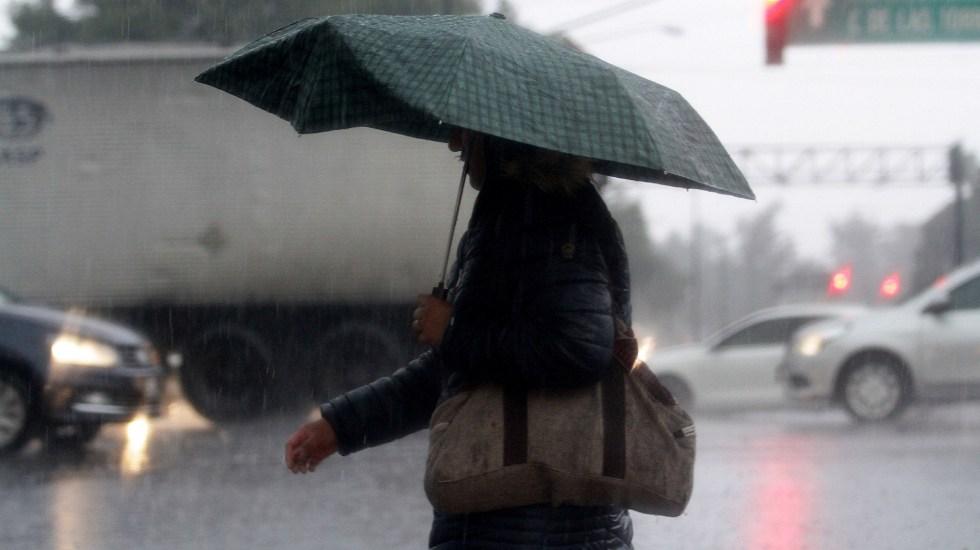 Registran lluvia ligera en nueve alcaldías de CDMX - Lluvia en la Ciudad de México. Foto de Notimex