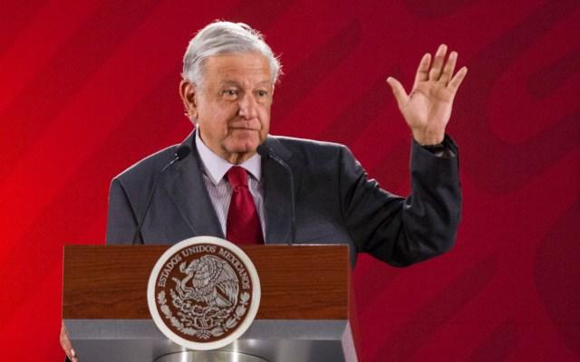 López Obrador pide a ciudadanos no proteger a delincuentes - López Obrador en conferencia. Foto de Notimex