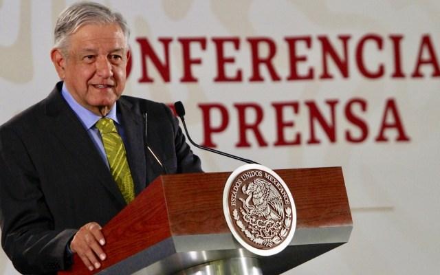 López Obrador convoca a bancos a bajar comisiones - López Obrador en conferencia de prensa. Foto de Notimex
