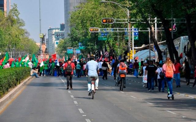 Al menos cinco movilizaciones este jueves en la Ciudad de México - Foto de Notimex