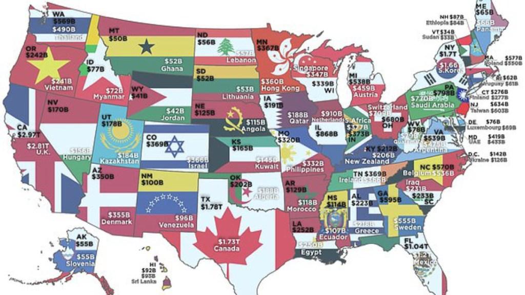 A estos países equivale el PIB de los estados de EE.UU. - pib estados eeuu