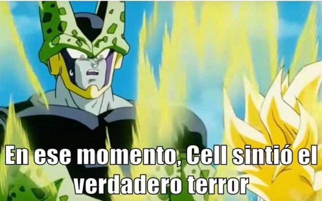 Hacer memes de personas podría ser motivo de demanda - Meme de Cell - Dragon Ball. Foto de Toei Animation / Plantillas para Memes (Facebook)