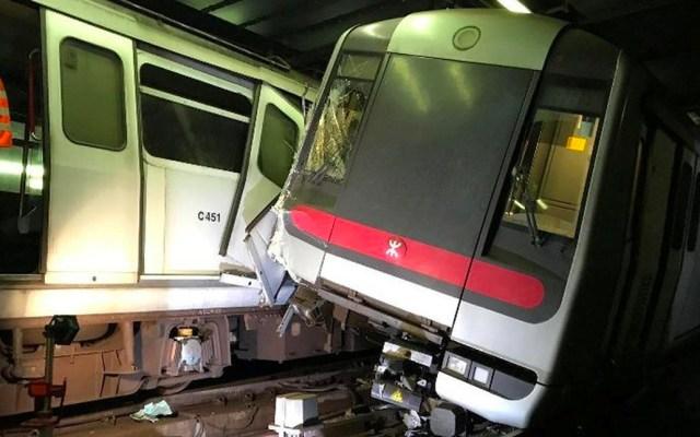 Trenes de metro de Hong Kong chocan durante prueba de sistema - Foto de Reuters