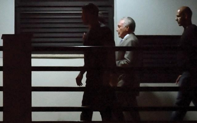 Michel Temer decidió no declarar en su primera comparecencia ante el juez - Foto de AFP