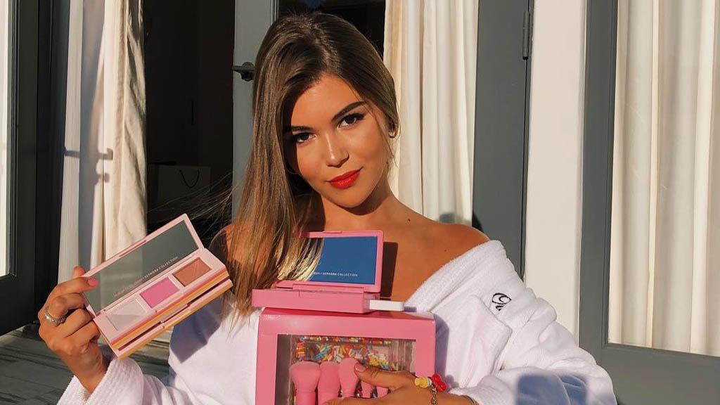 Olivia Jade con productos de su colección con Sephora. Foto de @oliviajade
