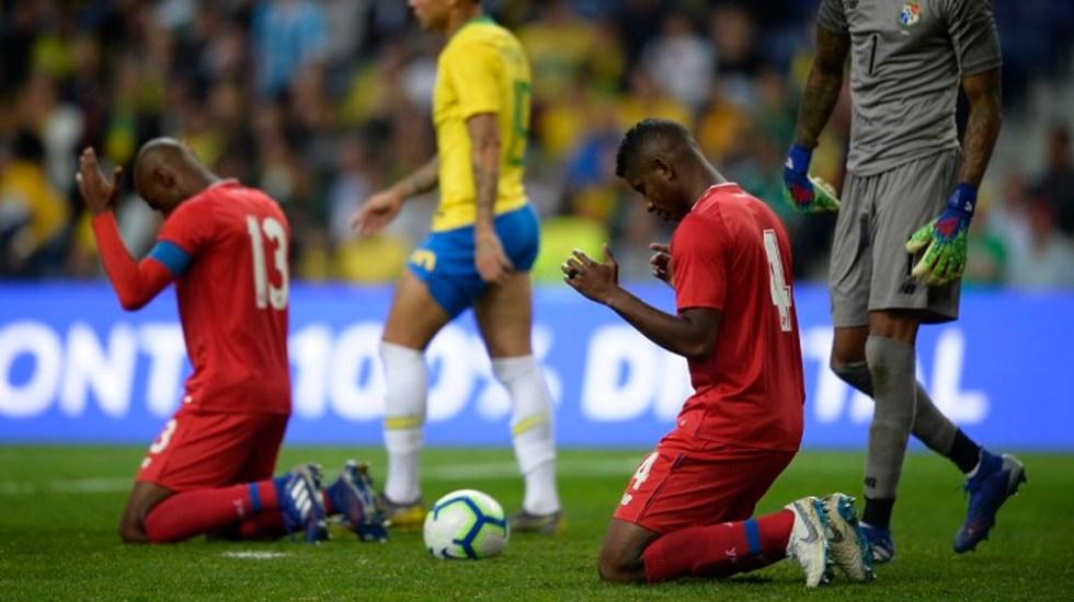 Panamá logra histórico empate ante Brasil - Foto de AFP