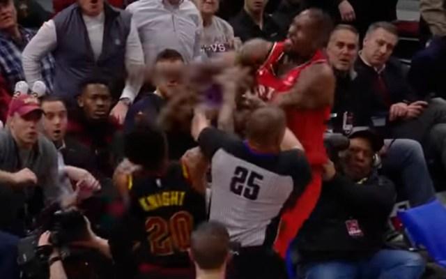 #Video Pelea entre jugadores de los Raptors y Cavaliers
