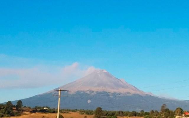 Activan protocolos de revisión en el Popocatépetl tras explosión - Foto de @PC_Estatal