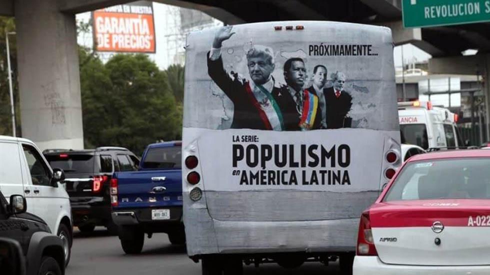 Investigación de 'Populismo en AL' no es buscar pleito: López Obrador - Publicidad del documental Populismo en AL. Foto de Twitter