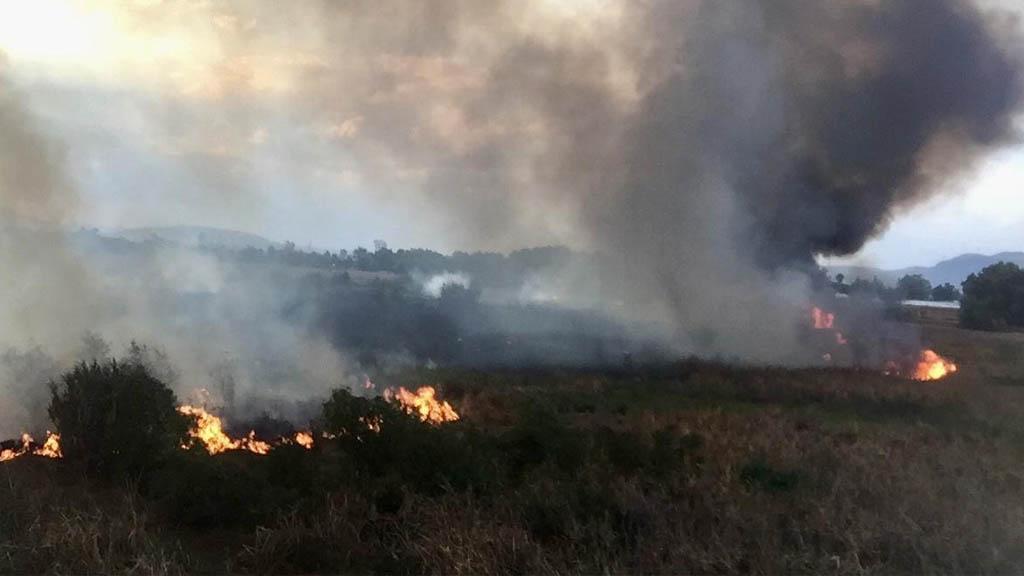 Se incendian pastizales en Tlalnepantla. Noticias en tiempo real