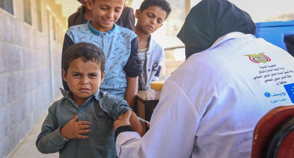 Vacunación. Foto de Unicef