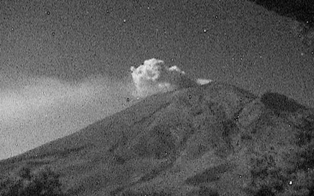 Identifican al menos 117 exhalaciones del volcán Popocatépetl - Foto de Cenapred
