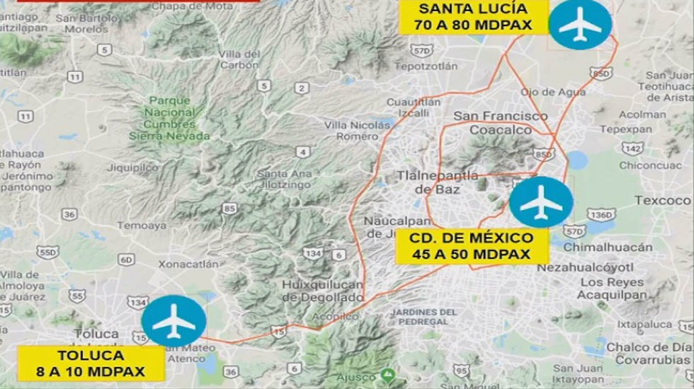 AICM tendrá una Terminal 3 - Aeropuertos del Valle de México. Captura de pantalla