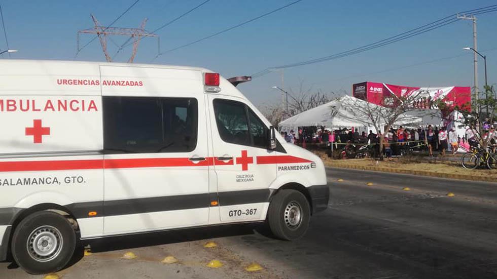 Ambulancia de la Cruz Roja Salamanca. Foto de Facebook