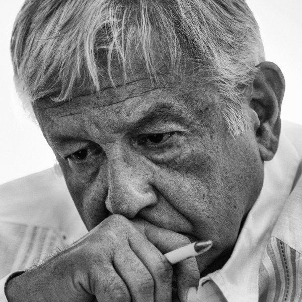 Presidente López Obrador. Foto de Time